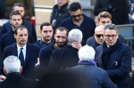 Soccer Football - Davide Astori Funeral - Santa Croce, Florence, Italy - March 8, 2018 Massimiliano Allegri and Giorgio Chiellini arrive before the funeral REUTERS/Alessandro Bianchi - Газета Шанс online